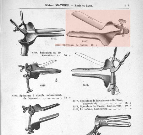 Collin's vaginal speculum catalog 1