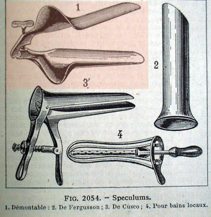 Collin's vaginal speculum catalog