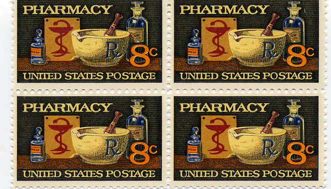 Honoring Pharmacists on Postage Stamps from 1972