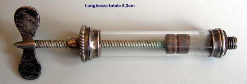 Siringa Pravaz argento lunghezza chiusa 5,3 cm